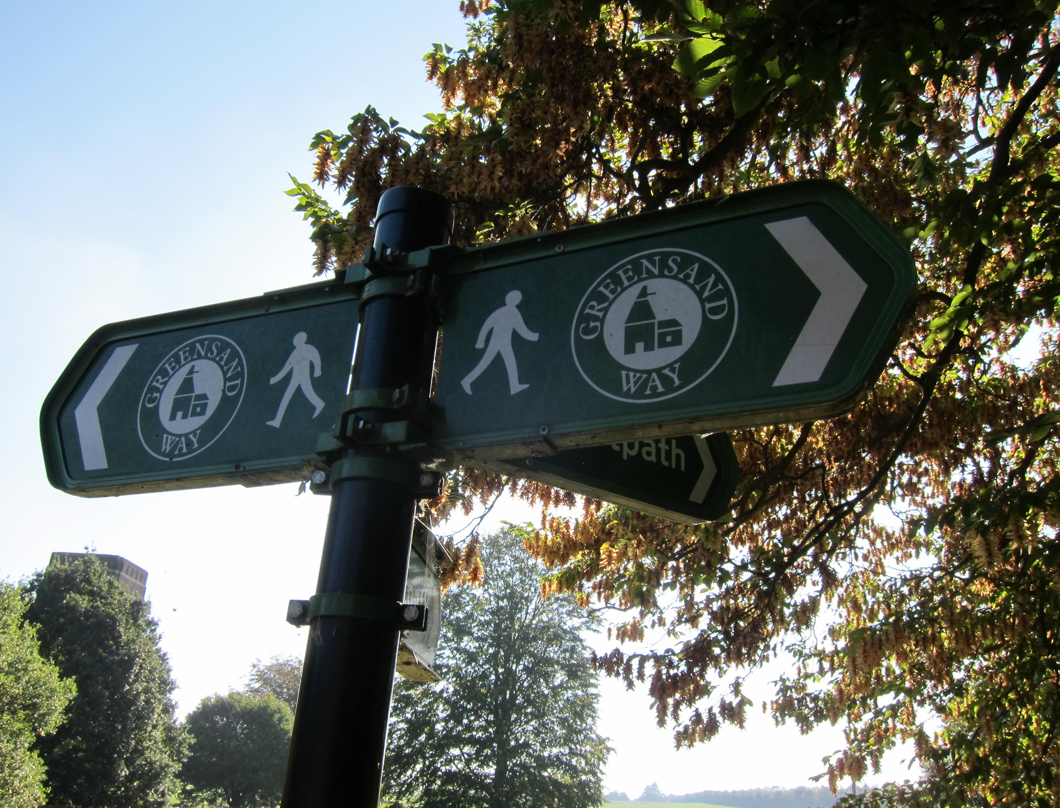 The Greensand Way is better waymarked today  than it was when we walked it many years ago.