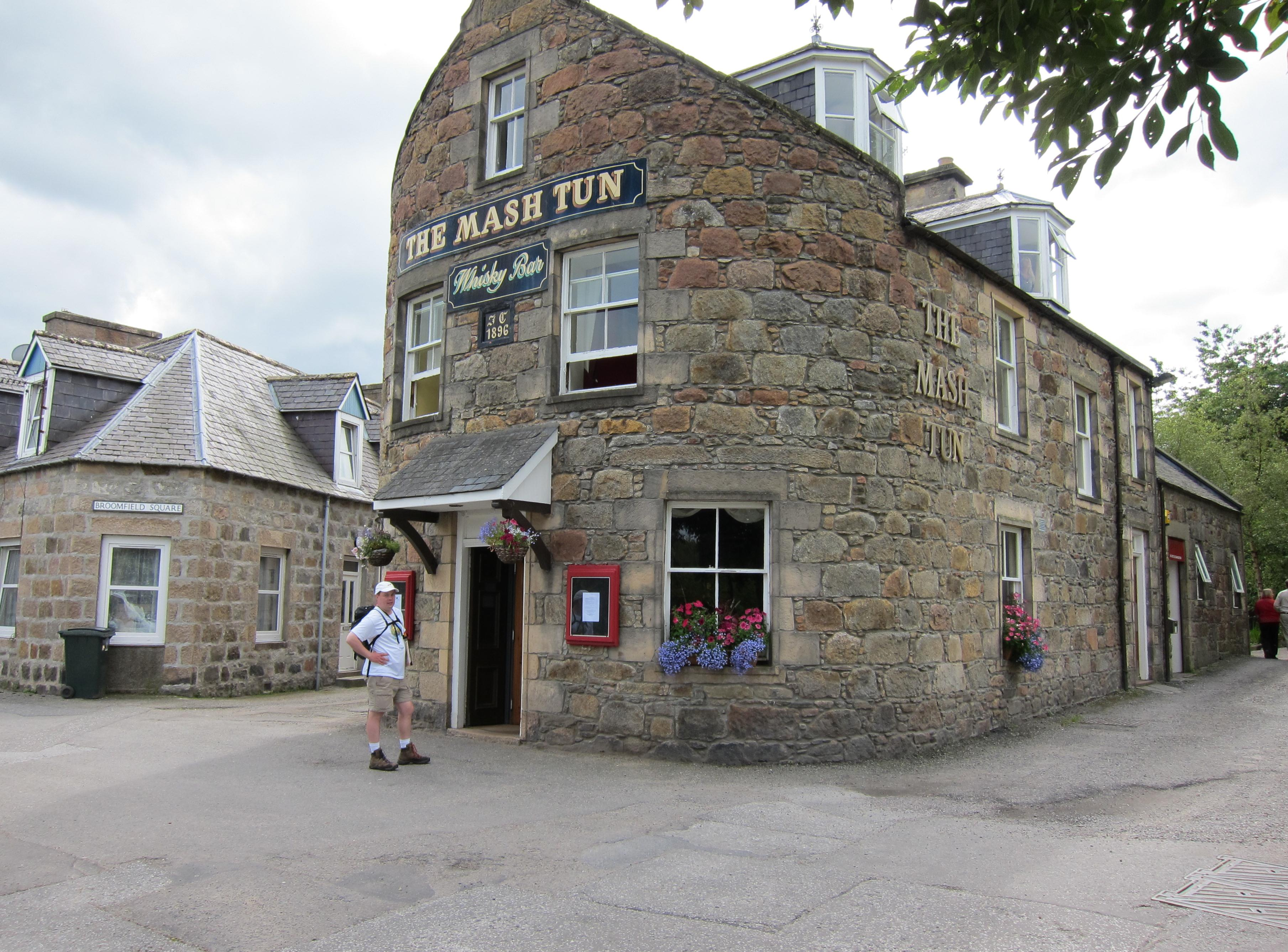 Gavan gets ready for his first dram at The Mash Tun in Abelour