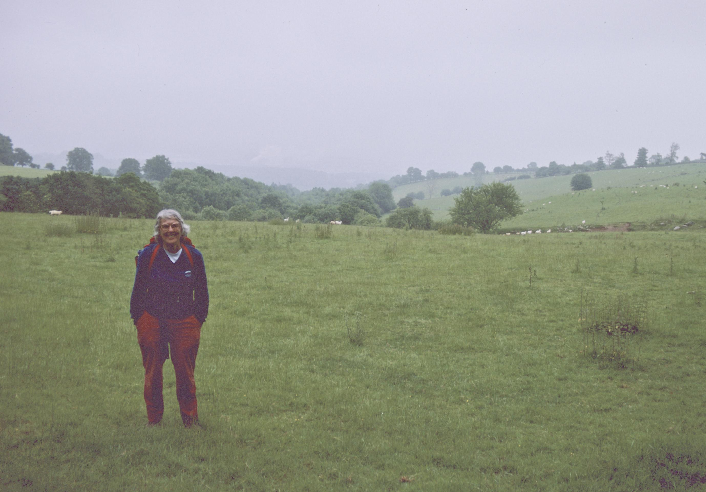 Tosh at her mile 700, near the Clwyd-Shropshire border