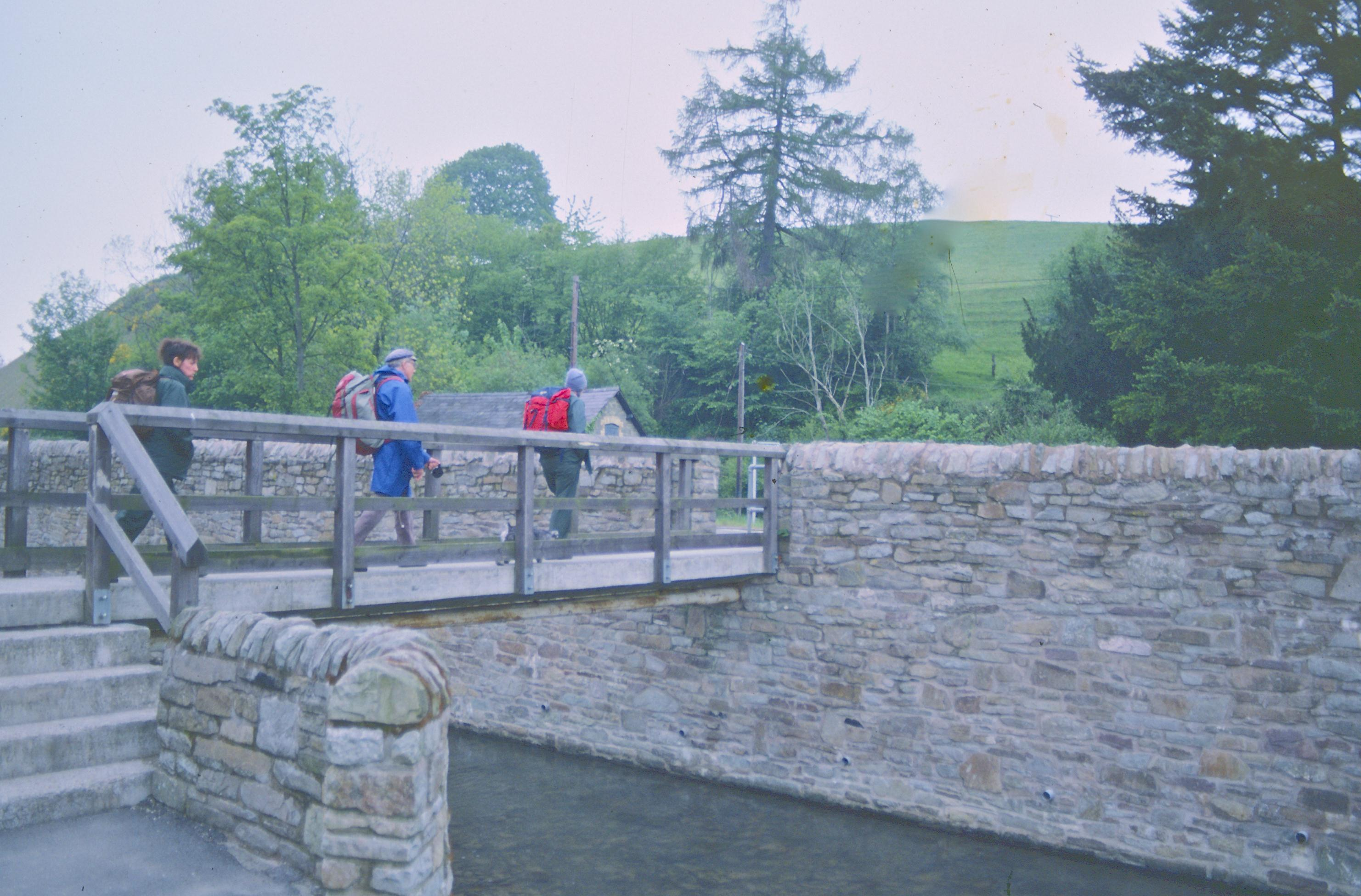 Our party crosses Kington's Back Brook