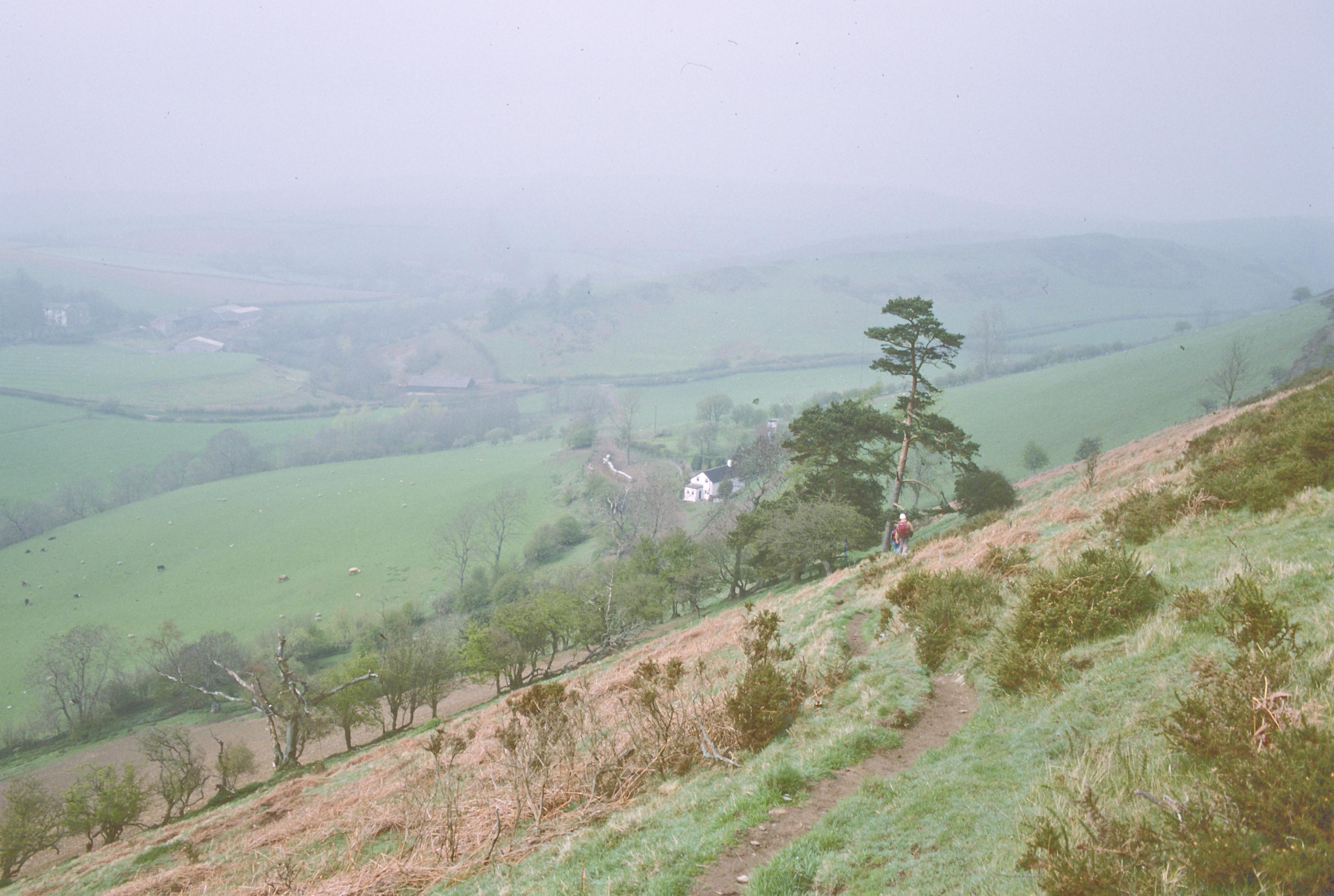 The descent to Brynorgan