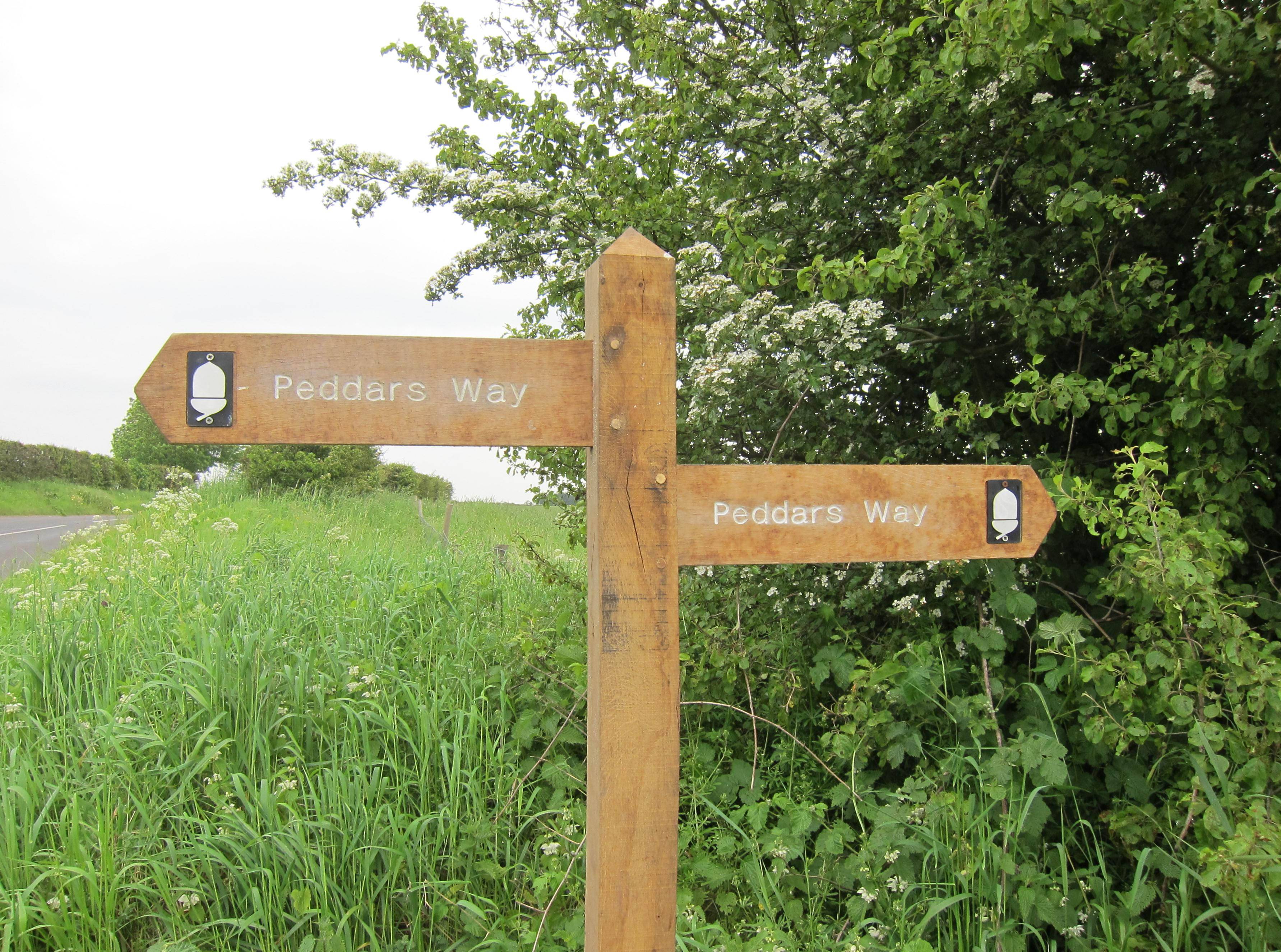 The Peddars Way is well waymarked throughout the route. These finger  posts were found near Anmer Minque on the fourth day of our walk.