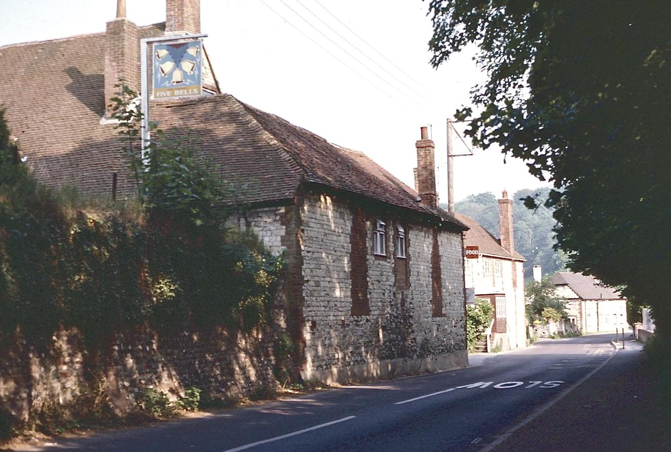 Buriton – where my walk on the South Downs Way ended in 1980  and began all over again in 1998.