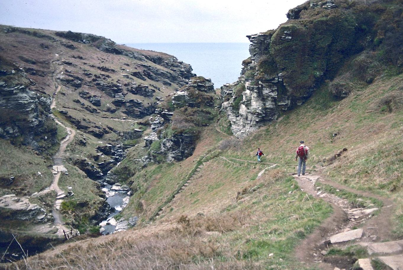 Between Boscastle and Tintagel, a descent to North Cornwall's Rocky Valley