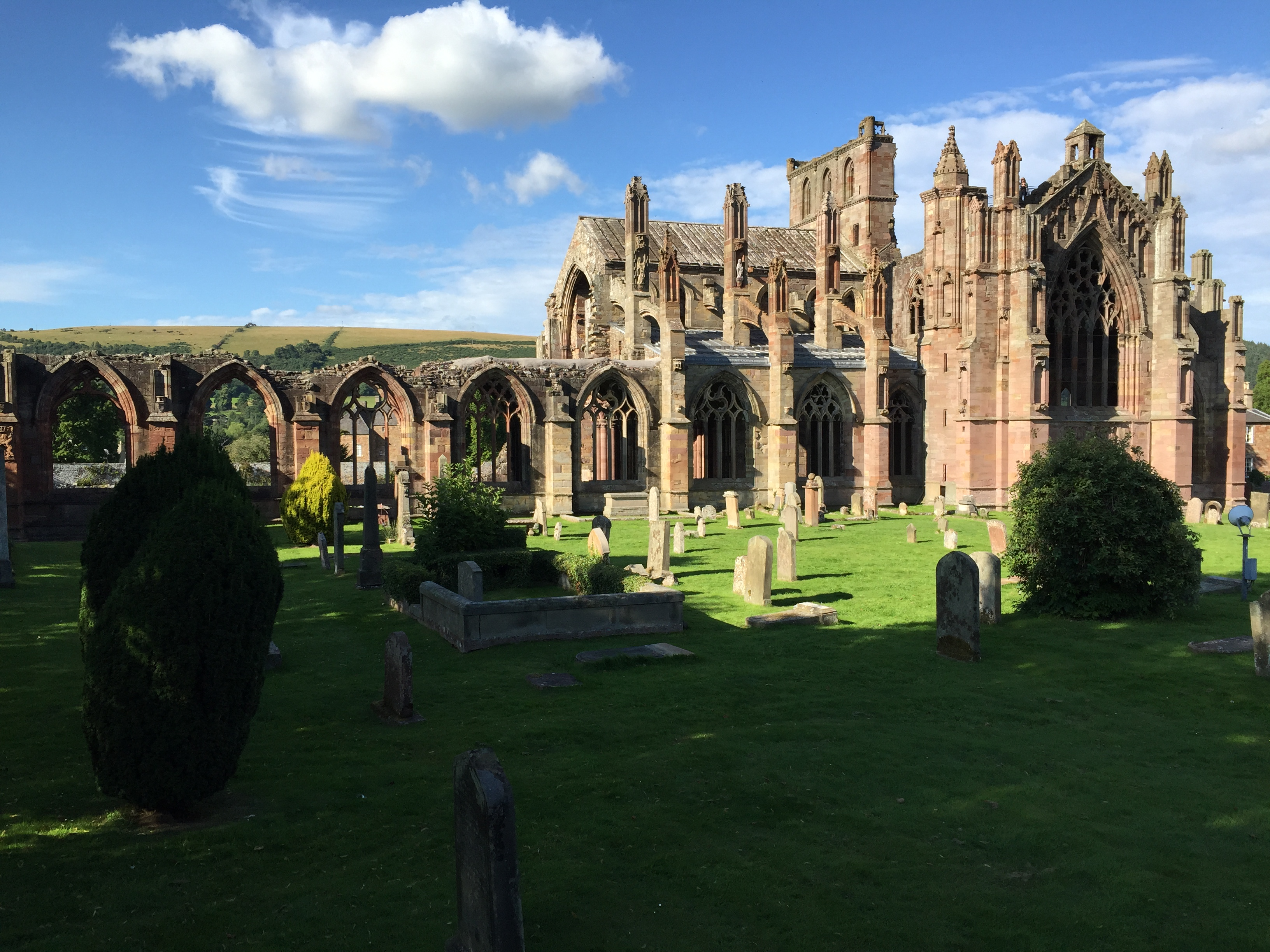 At the start of the route – Melrose Abbey